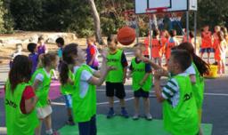 כדורסלדת - הפעלה עם כדורסל